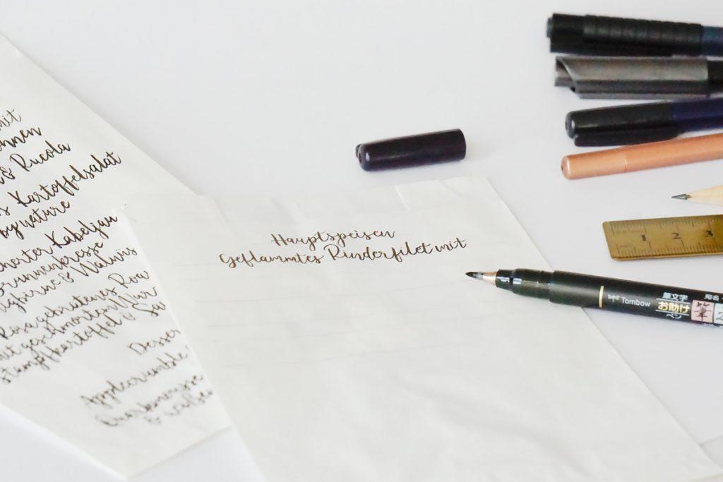 paperloveink blog Menükarte diy hochzeitspapeterie