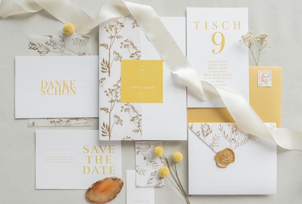 paperloveink hochzeitspapeterie gold